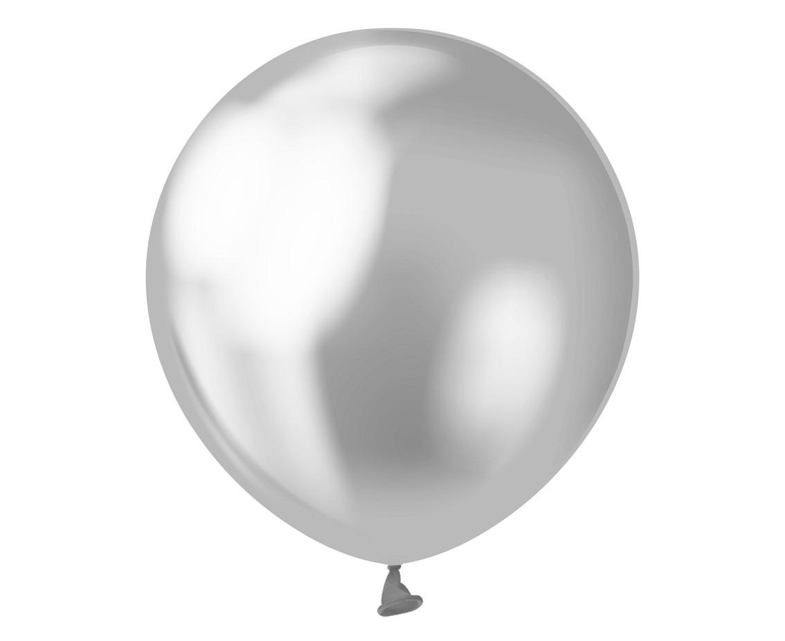 Латексна кулька хром срібний 5″ /13 см Mirror Silver Kalisan