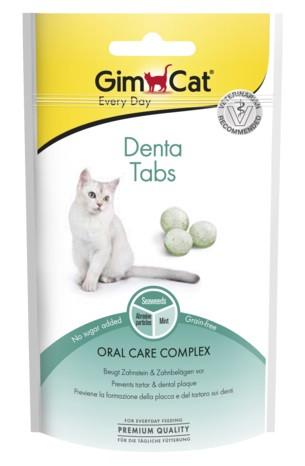 Лакомство для очищения зубов кошек GimCat Denta Tabs 40 г