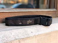 Ремень мягкий (5 см) BLACK MULTICAM, фото 3
