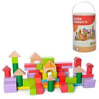 Деревянный конструктор-городок 100 деталей