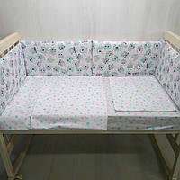 Комплект в детскую кроватку Совушки со звездами  Т.М.Миля