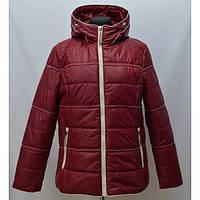 Отличная демисезонная куртка с капюшоном больших размеров утеплитель  холофайбер 3cefee1807d
