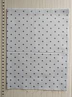 Отрез для рукоделия Серые звездочки на голубом фоне - 40*50 см, фото 1