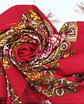 Незнакомка 779-3, павлопосадский платок шерстяной  с шелковой бахромой, фото 7