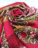 Незнакомка 779-3, павлопосадский платок шерстяной  с шелковой бахромой, фото 9