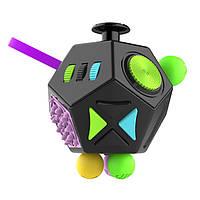 Додекаэдр Антистресс игрушка Фиджет Куб Черный + разноцветный