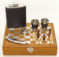 Мужской подарочный набор с флягой и шахматами