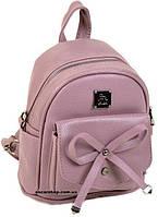 Детский Розовый рюкзак с бантом 23*21*13. Качественная женская сумка Alex Rai с бантом. ЖС11-1
