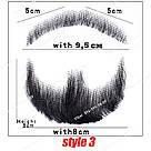 🧔 Борода и усы реалистичные — накладка на сетке коричневого цвета, фото 9