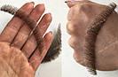 🧔Борода и усы реалистичные — накладка на сетке коричневого цвета, фото 6