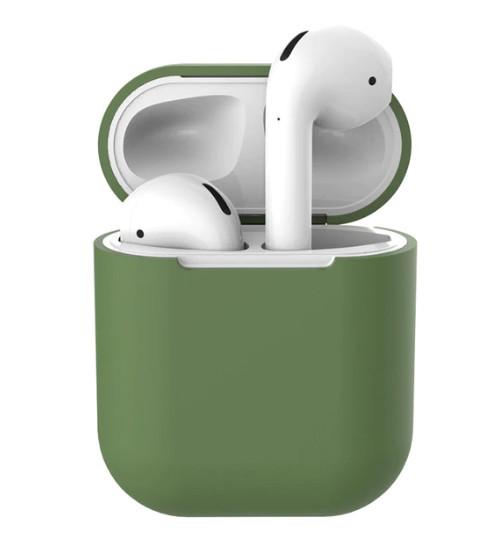 Силиконовый чехол Ultra Slim (Olive) для наушников Airpods/Аналогов