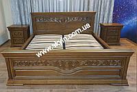 Кровать Эдельвейс с тумбами из массива дуба