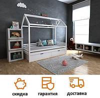 Детская кровать домик Китти с ящиками