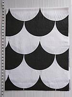 Отрез для рукоделия Черные и белые чешуйки  - 40*50 см