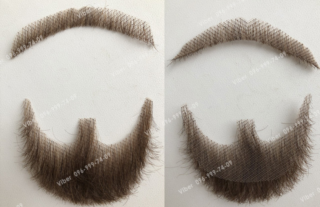 реалистичная накладная борода усы натуральная
