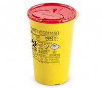 Контейнер для cбора иголок и  медицинских отходов вместимость 2 л.  (с PP, круглый), шт.