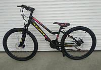 Женский горный велосипед с низкой рамойAzimut Pixel26D черно-розовый 85% собран.в коробке