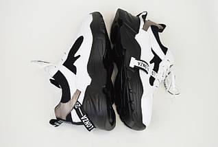 Кроссовки кожа-текстиль Prima D'arte 90122 черно-белые, фото 3