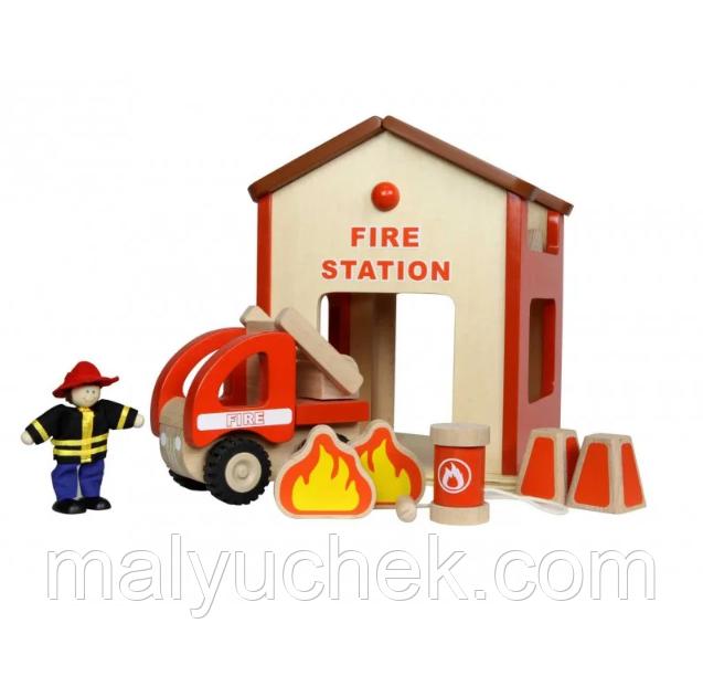 Деревянная мини-пожарная станция Masterkidz MK00910