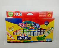 Фломастеры детские 12 цветов легко отмываются Colorino