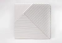 Гипсовые 3D панели "Lines" White 500*500*25 мм, фото 1