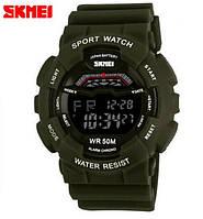 Спортивные Часы Skmei 1012 Хаки камуфляж аналог Casio G-Shock