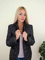 Женская стеганная куртка-пиджак черная