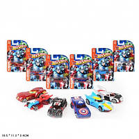 "Набор моделек ""Hot Wheels"" 8623 супергерои метал.6в.лист 16,5*3,4*11,3(8623)"