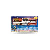 Железная дорога 7016 (610) Голубой вагон, муз, свет, дым,(М 7016)