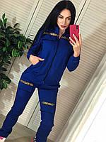 Женский спортивный костюм с карго штанами и бомбером на молнии 41SP845