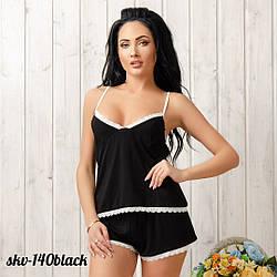 Трикотажний комплект: маєчка та шорти New Fashion SKV-140black | 1 шт.