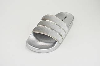 Шлепанцы Prima d'Arte SF09 велюр серебристый, фото 2