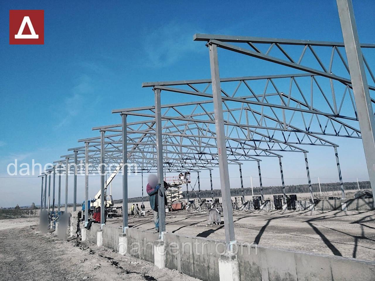 Ангар 20х72х5 склад, 1440 кв.м. каркас,зерносховище, новий