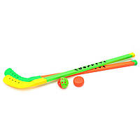 Набір хокейних клюшок з м'ячиком і шайбою (сітка) /72/ (HF311C)