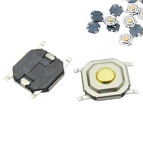 10x Кнопка тактовая, микрик, SMD 4 контакта, 4х4x1.5мм 5х5x1.5мм