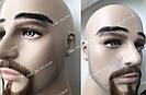 Накладные брови👀 унисекс, реалистичные из натуральных волос, черные, фото 2