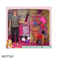Кукла Sariel 29см 7726-A3 парень с собачкой и аксес.кор.36,5*7*33,5 /48/ (7726-A3)