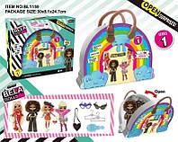 Игровой набор кукла Bella Dolls сумка д/девочек  в кот. кукла 17,5см+сюрпризы: одежда, украшения, аксесс,  в кор.30*8*25см /36-2/ (BL1159)