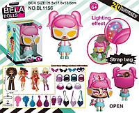 Кукла Bella Dolls сумка, в кот. кукла 17,5см+сюрпризы: одежда, украшения, аксессуары,  в кор. /28-2/ (BL1156)