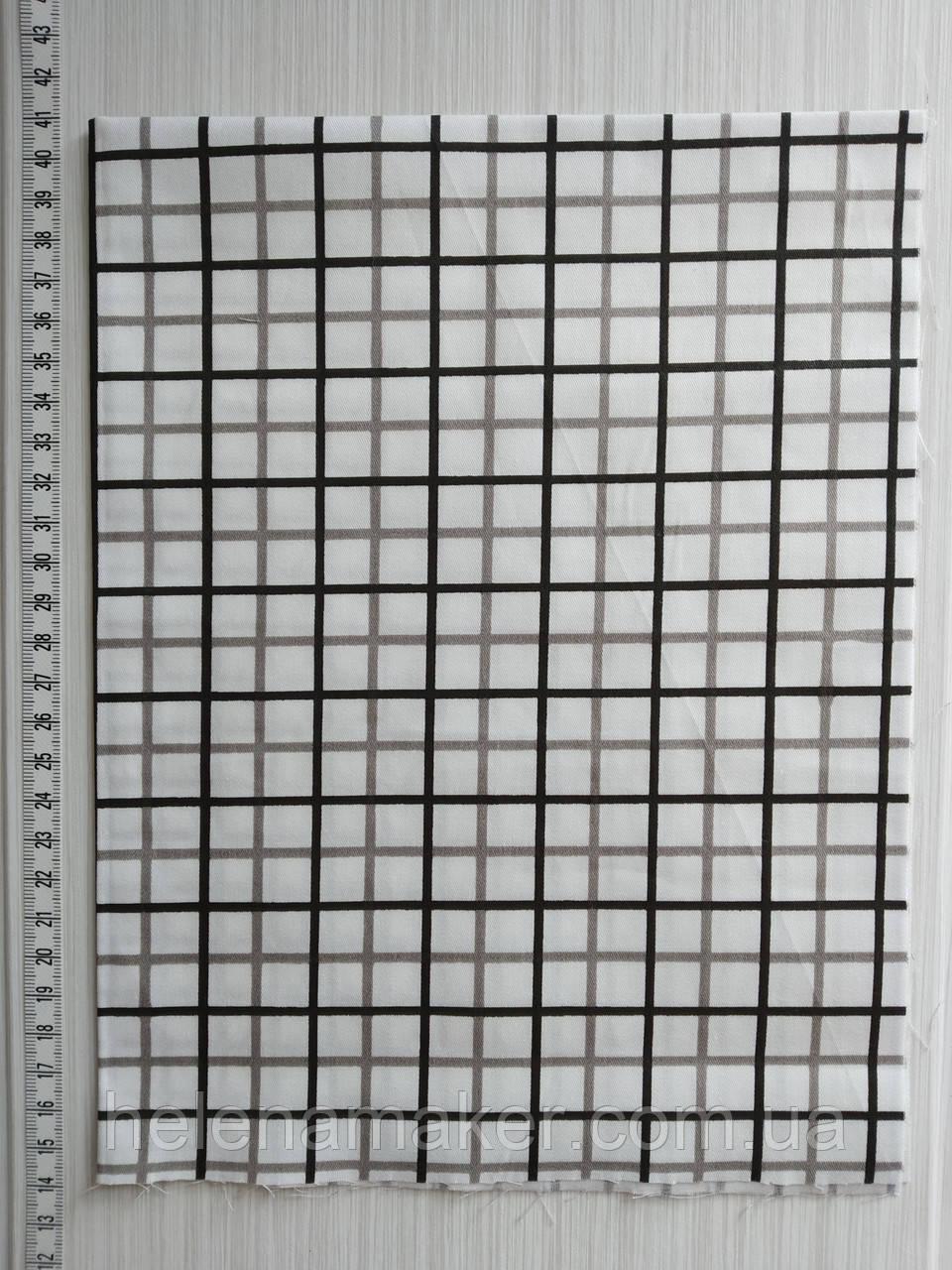 Отрез  ткани для рукоделия Клетка  - 40*50 см