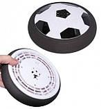 Літаючий футбольний м'яч для дому з підсвічуванням ховербол Hover Led Ball, фото 2