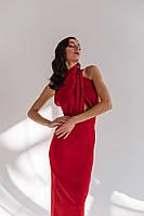 Шикарне витончене плаття костюмний креп По спинці потайна змійка На шиї гудзики, фото 1