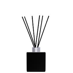 Флакон квадратный для аромадиффузора 50 мл ЧЕРНЫЙ  в комплекте черные палочки 6 шт