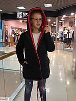 Двусторонняя, блестящая женская курточка 42-44, 46-48 р.