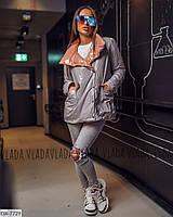 Модная двусторонняя, блестящая женская курточка 42-44, 46-48 р.