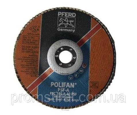 Круг лепестковый тарельчатый циркониевый КЛТ 125х22 Р40  по н/ж PFERD