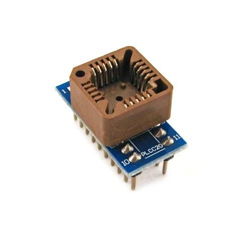 PLCC20 - DIP20 переходник, панелька для микросхем