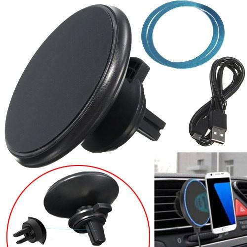 Qi передатчик беспроводная зарядка магнитный держатель на решетку авто