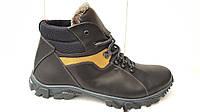 Мужские зимние кожаные ботинки больших размеров 46,47,48,49,50  Track  clasic, фото 1