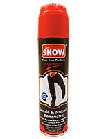 Спрей-фарба відновлювач для нубуку та замші Show коричневий 220 мл